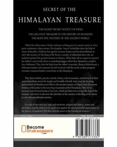Secret of the himalayan treasure book rear cover
