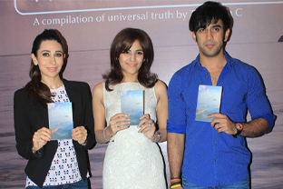 Karishma at book launch