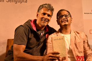 Milind Soman at unclothed book launch